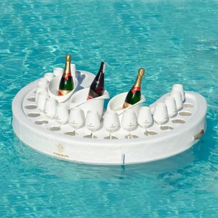 Swim-up-Bar Trona Kunstleder weiß nautische und Plexiglas