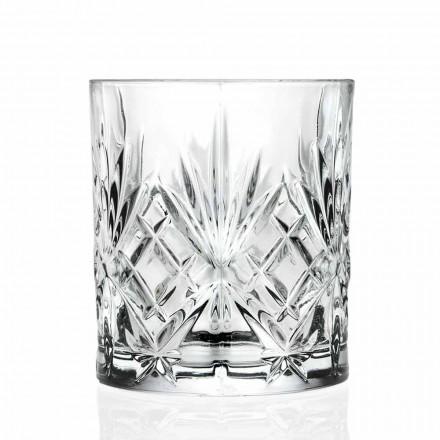 Doppelte altmodische Glas, Vintage-Stil Öko-Kristall 12 Stück - Cantabile