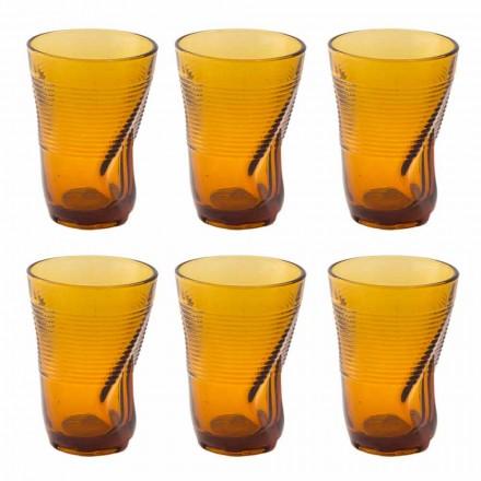 Farbige Glas Cocktailgläser 12 Stück zerknittertes Design - Sarabi
