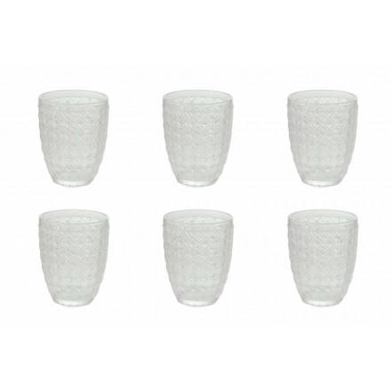 12 Stück Serviergläser aus transparentem Glas für Wasser - Optisch
