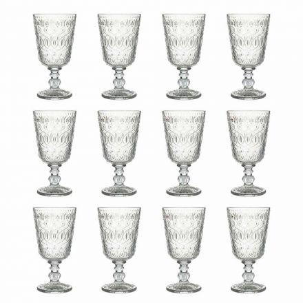 Weingläser aus transparentem dekoriertem Glas 12 Designbecher - Marokkobisch