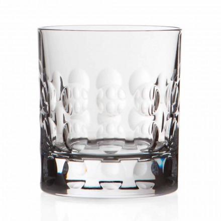 Doppelte altmodische Kristall Whisky Gläser 12 Stück - Titanioball