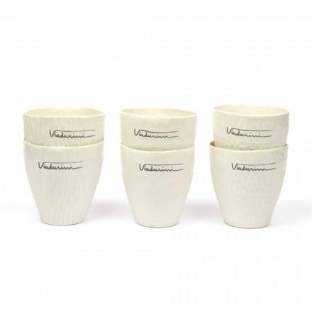 Luxus Design Weiße Porzellangläser 6 Unikate - Arcireale