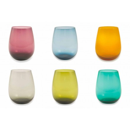 Farbige Glasbecher für Wasser Moderner Service von 12 Stück - Aperi