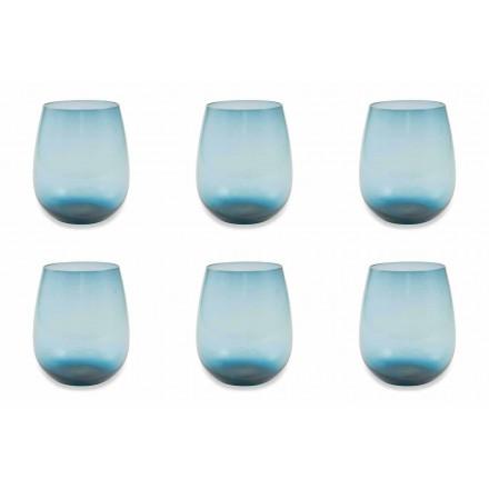 Modernes und farbiges Glas Wasserglas Service von 6 Stück - Aperi