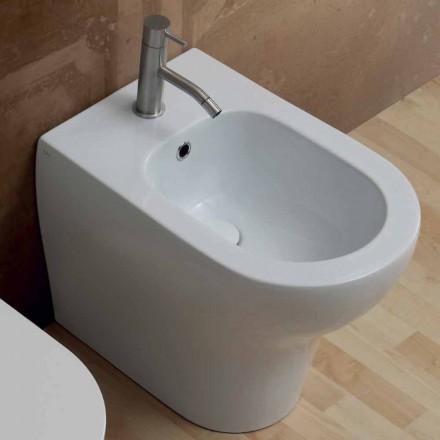 Bidet aus weißer Keramik modernes Design Star 54x35cm made in Italy