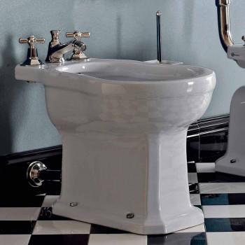 Vintage schwarzes oder weißes Keramik-Boden-Bidet Made in Italy - Marwa