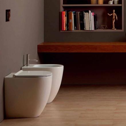 Bidet aus Keramik modernes Design Shine Square Open Rimless H50 cm