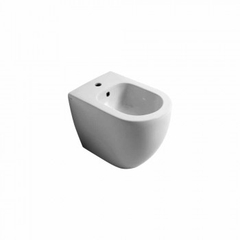 Modernes Keramik Bidet Shine Square Randlos 54x35cm made in Italy