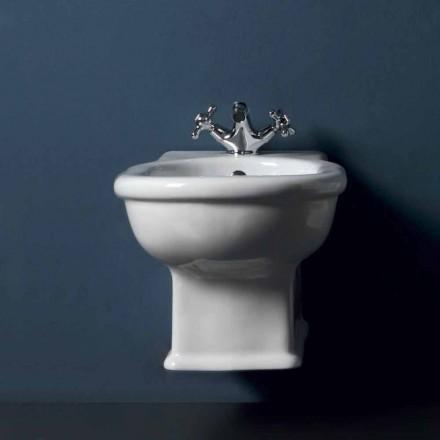 Klassisches hängendes Bidet, weiße Keramik Style 54x36 made in Italy
