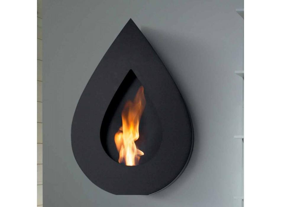 Biocamino moderne Wand Bioethanol Joseph Flammenform