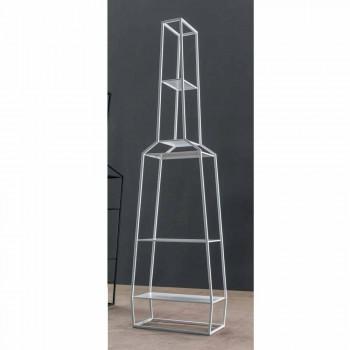 Bonaldo April 210x60cm Bücherregal aus farbigem Metall, hergestellt in Italien