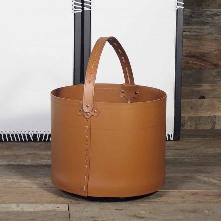 Brennholztasche aus Milo-Leder 100% Made in Italy
