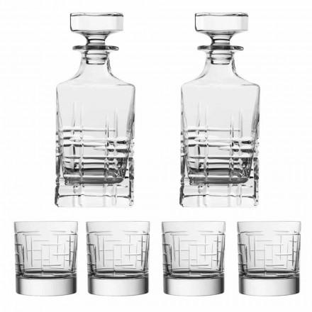6-teilige Luxus-Whiskyflasche und Gläser aus ökologischem Kristall - Arrhythmie