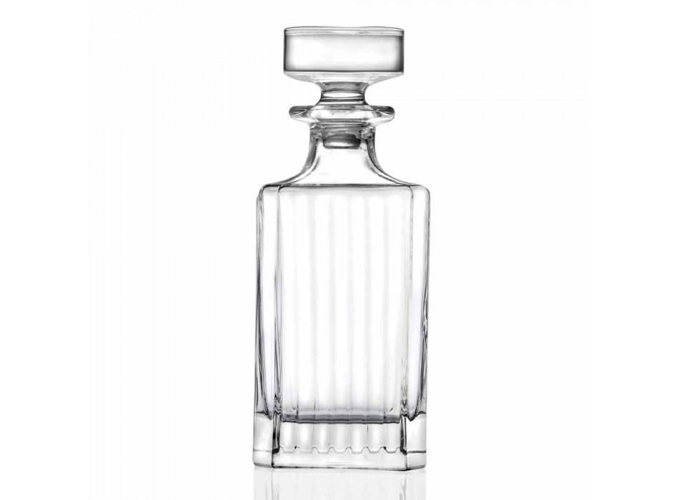 4-teilige quadratische Design-Öko-Kristall-Whiskyflaschen - Senzatempo