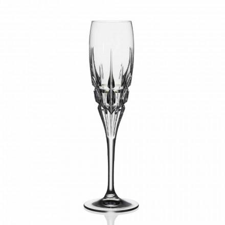 Kristallflötenglas für Champagner in ökologischem Kristall 12 Stück - Fiucco