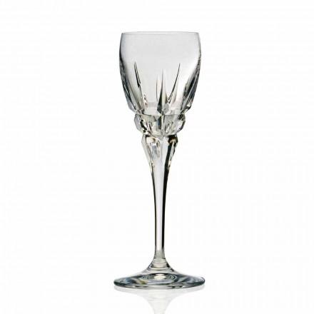 Glas für Rotwein in ökologischem Kristall Handgeschnitten 12 Stück - Fiucco