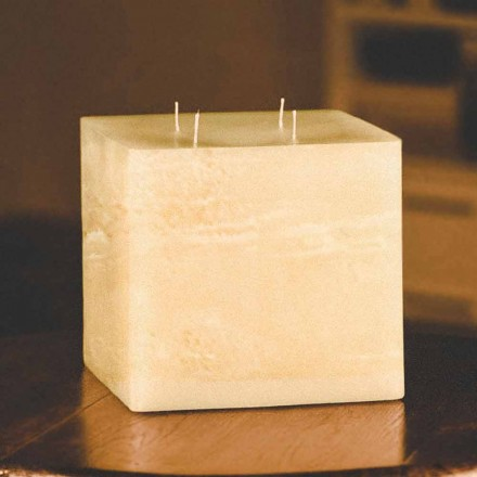 Quadratische handgemachte moderne Wachskerze Made in Italy - Mondeo