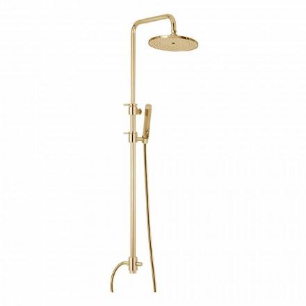 Messing Duschsäule mit Abs Dusche und Made in Italy Duschkopf - Haube