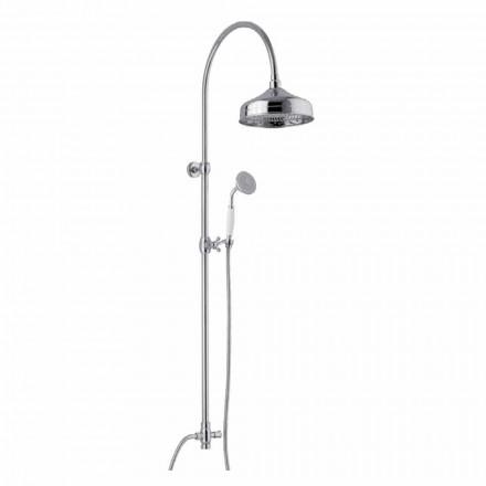 Messing-Duschsäule mit Duschkopf und Abs-Handbrause Made in Italy - Rimo