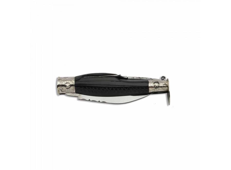 Antikes kalabresisches Messer mit versteckter Gabel Made in Italy - Bria