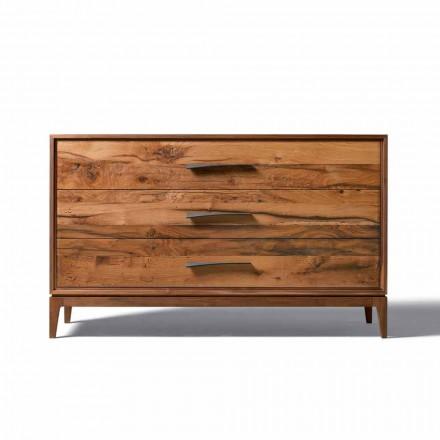 Kommode mit 3 Schubladen in modernem Design, L131xP55xH80cm Sandro