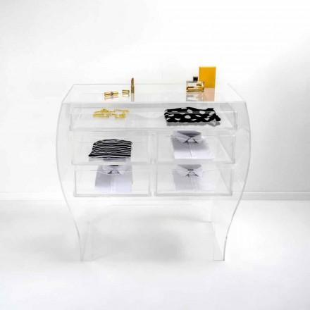 Dresser 5 Schubladen modernes Design transparent Plexiglas Billy