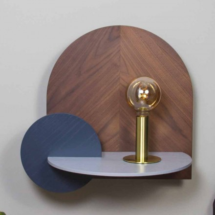 Nachttisch im modernen Design bestehend aus 3 modularen Sperrholzplatten - Marea