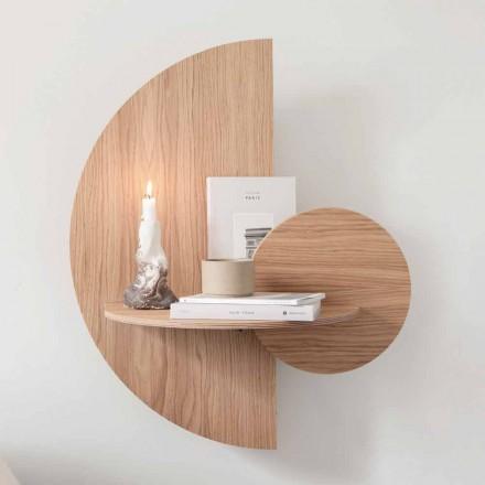 Design Nachttisch bestehend aus 3 modularen Paneelen aus Eiche - Ramia Sperrholz