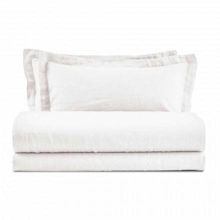 Farbige Bettwäsche aus reinem Leinen für das Doppelbett - Opulenz