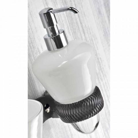 Aufgehobene Design-Badezimmermöbelzusammensetzung in Italien Aosta