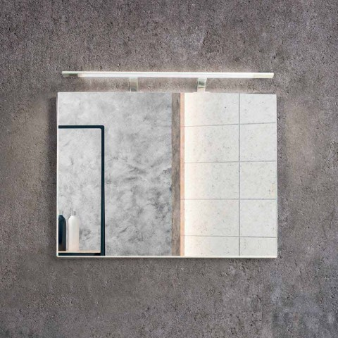 Zusammensetzung suspendiert Badezimmer in MDF lackiert Made in Italy - Becky