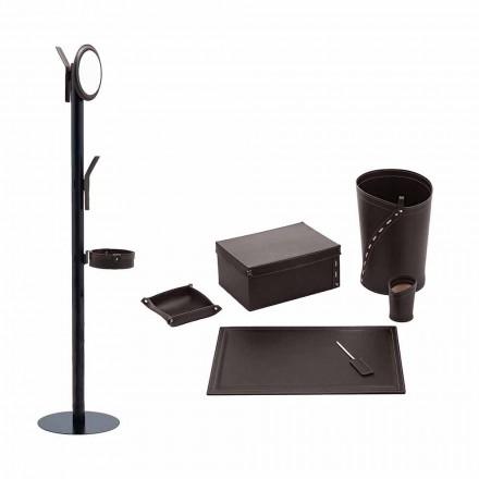 Büroartikel Kleiderbügel, Schreibtischunterlage, Papierkorb, Halter - Andrea