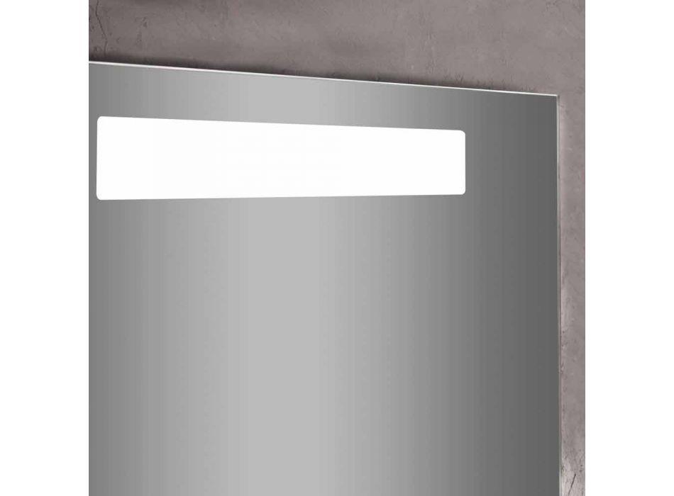 Badezimmereitelkeit Schrank Zusammensetzung in Holz und modernem Design Spiegel - Gualtiero