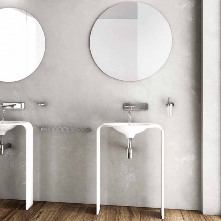 Moderne Badezimmerboden-Möbelzusammensetzung hergestellt in Italien Siena