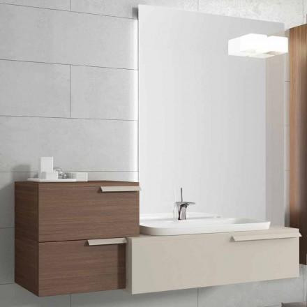 Suspended Badezimmermöbel Design Zusammensetzung Happy lackiertem Holz Happy