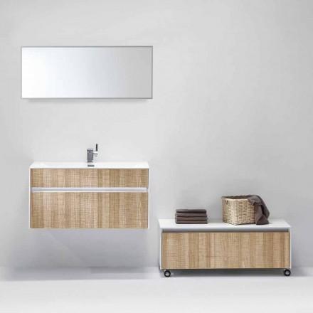 Hängende Zusammensetzung von Badmöbeln mit modernem Designspiegel - Rossella