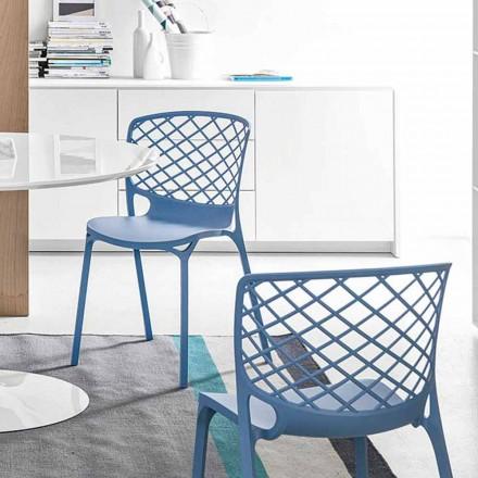Connubia Calligaris Gamera moderner Design Küchenstuhl, 2 Stück