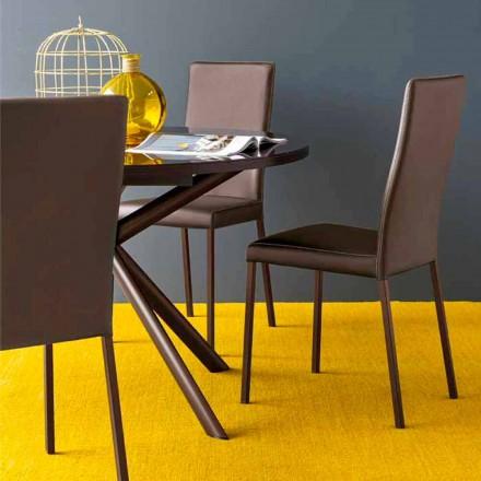 Connubia Calligaris Garda moderner Stoff und Metall Stuhl, 2 Stück