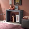 Ausziehbare Tischkonsole Bis zu 290 cm mit Holzplatte Made in Italy - Seregno