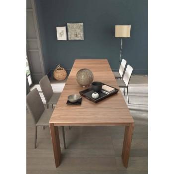 Ausziehbare Konsole Bis zu 295 cm in Made in Italy Design Holz - Temocle