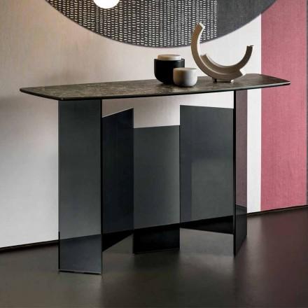 Design Wohnzimmer Consolle aus Keramik und Glas Made in Italy - Zufällig