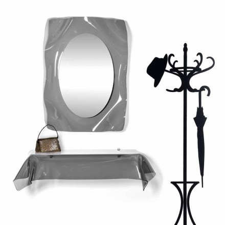 Modernes Design-Konsole aus transparentem Plexiglas. drapierter Wunsch