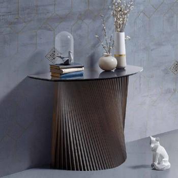 Moderne Festkonsole mit konvexer Form und Steinzeugplatte, Apice