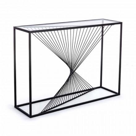 Konsole aus Stahl und Glas Modernes Design Original Spirale - Sasuke