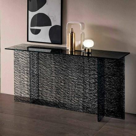 Design Entrance Consolle aus dekoriertem extraklarem Glas Made in Italy - Sestola