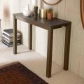 Ausziehbare moderne Tischkonsole aus Eichenholz und Metall Made in Italy - Nappo