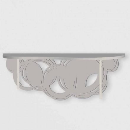 Moderne Designkonsole aus Sand und beige Holz für die Wandmontage - Orbit