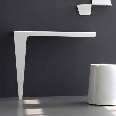Moderne Minimal Design Konsole aus farbigem Metall Made in Italy - Benjamin
