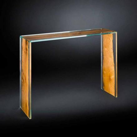Konsole aus Glas und Holz in modernem Design Venezia